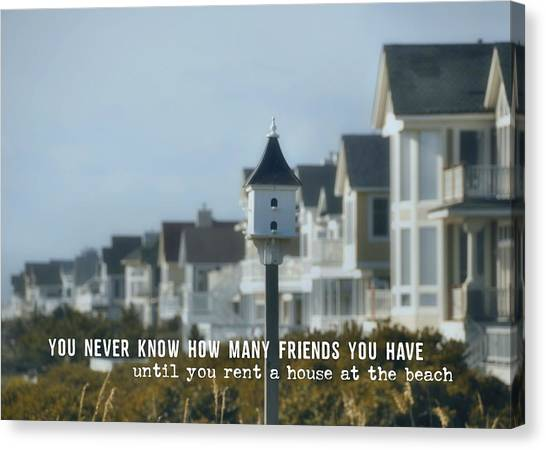 Oceanfront Quote Canvas Print by JAMART Photography