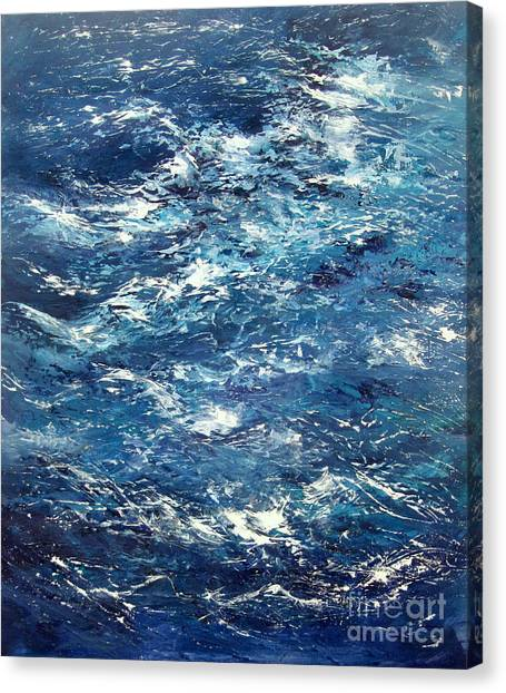 Ocean's Blue Canvas Print