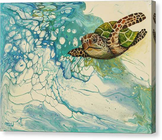 Canvas Print featuring the painting Ocean's Call by Darice Machel McGuire