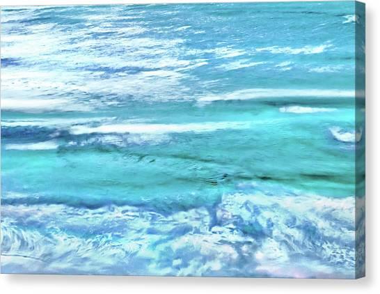 Laundry Canvas Print - Oceans Of Teal by Az Jackson