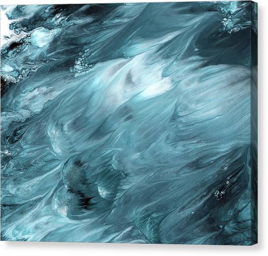 Waving Canvas Print - Oceanside 2- Art By Linda Woods by Linda Woods