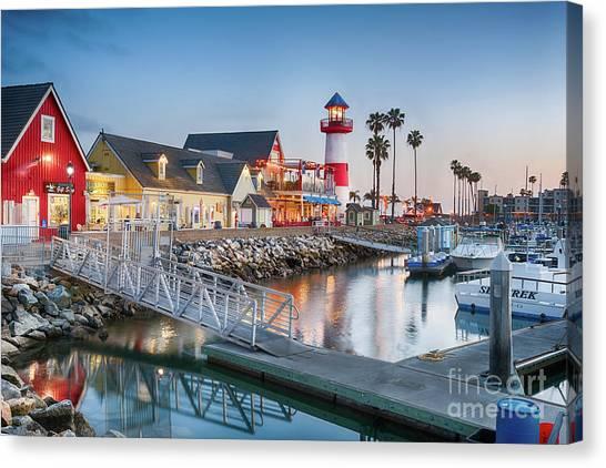 Oceanside Harbor Village At Dusk Canvas Print