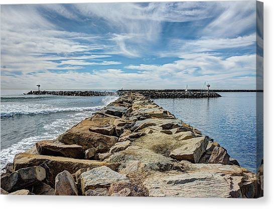 Canvas Print - Oceanside Jetty by Ann Patterson