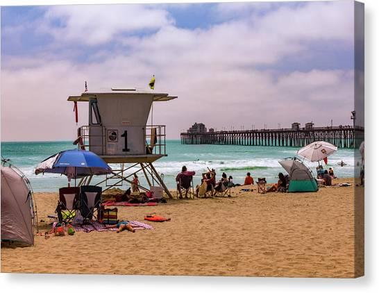 Oceanside Lifeguard Canvas Print