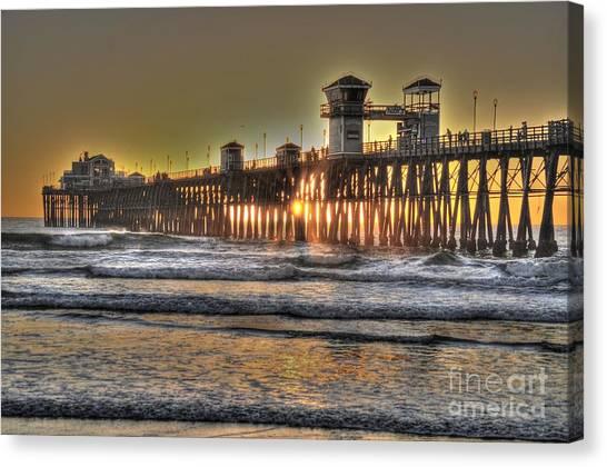 Oceanside Pier Hdr  Canvas Print