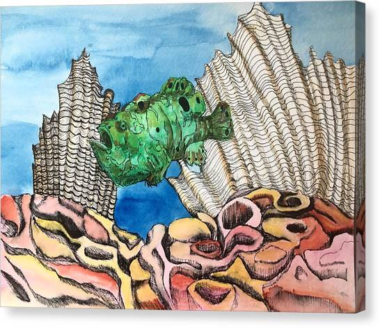 Ocellated Frogfish Canvas Print