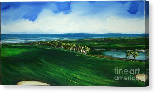 Oceon Hammock Fairway Canvas Print by Michele Hollister - for Nancy Asbell