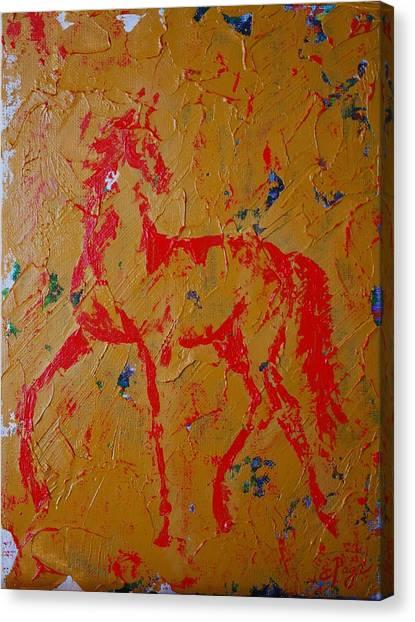 Ochre Horse Canvas Print