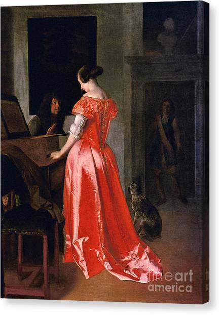 Harpsichords Canvas Print - Ochtervelt: Harpsichord by Granger