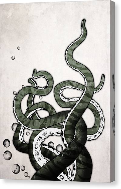 Horror Canvas Print - Octopus Tentacles by Nicklas Gustafsson