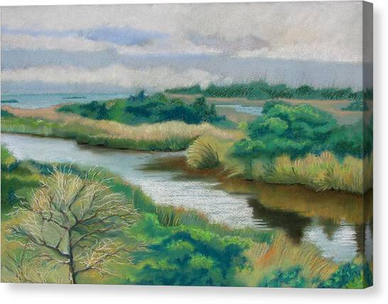 Ocracoke Afternoon Canvas Print by Shirley Galbrecht
