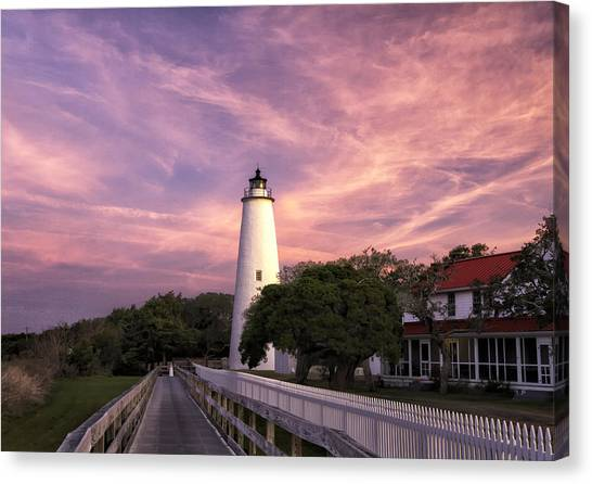 Ocracoke Lighthouse 01 Canvas Print