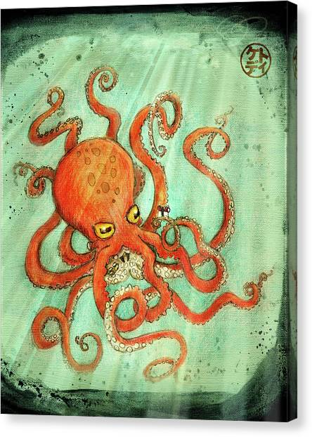 Canvas Print - Octo Tako With Surprise by Kato D