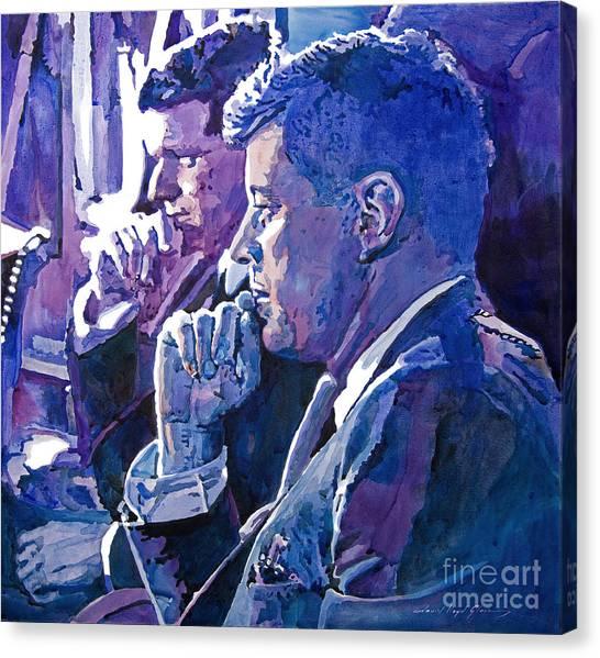 Presidential Portrait Canvas Print - October 1962 by David Lloyd Glover