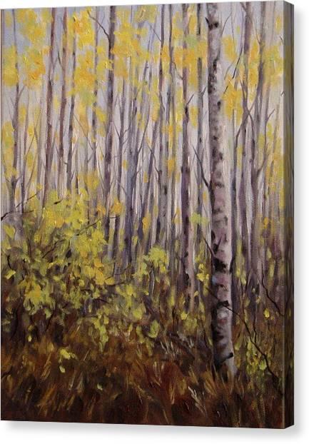 October Aspen Canvas Print by Debra Mickelson