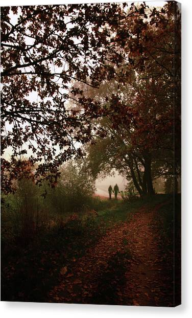 Loving Couple Canvas Print - October by Cambion Art