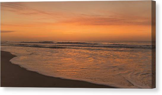 Ocean Sunrises Canvas Print - October Harmony Harvest by Betsy Knapp