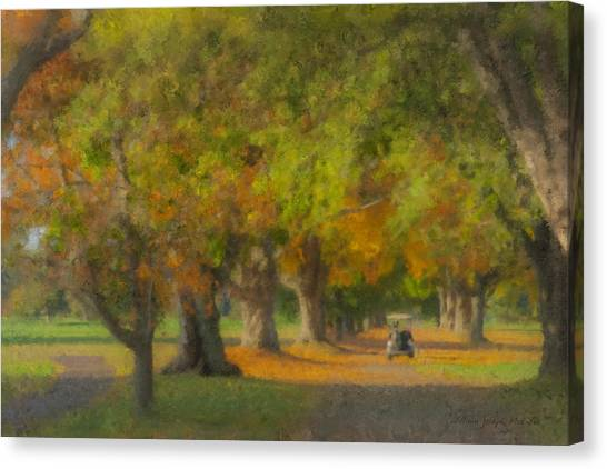October Morning At Easton Country Club Canvas Print
