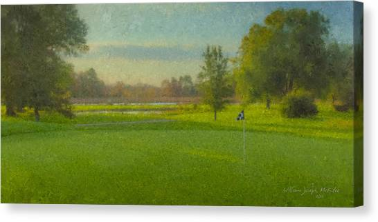 October Morning Golf Canvas Print
