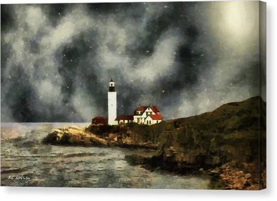 October Night, Portland Head Canvas Print