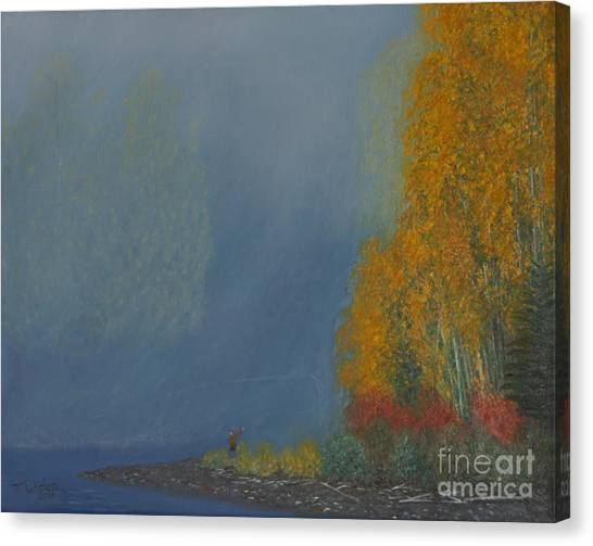 October On The River Canvas Print