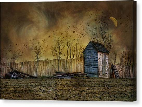October Outhouse Canvas Print
