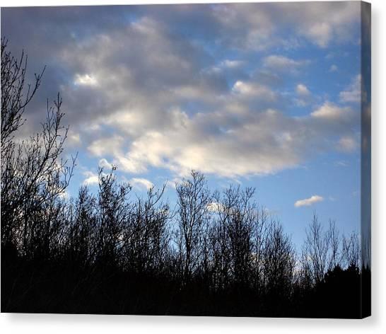 October Skies Canvas Print by Marilynne Bull