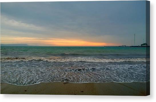 October Sunrise Canvas Print