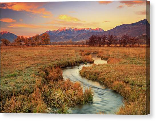 October Sunrise In Heber Valley. Canvas Print