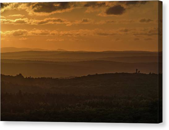 October Sunset In Acadia Canvas Print