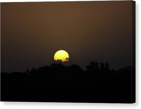 October Sunset Canvas Print by Peter Hill