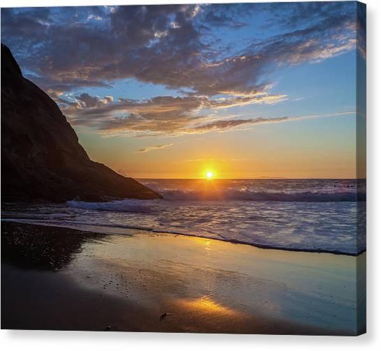 October Sunset Strands Beach Canvas Print