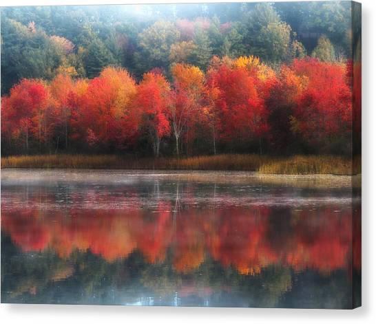 October Trees - Autumn  Canvas Print