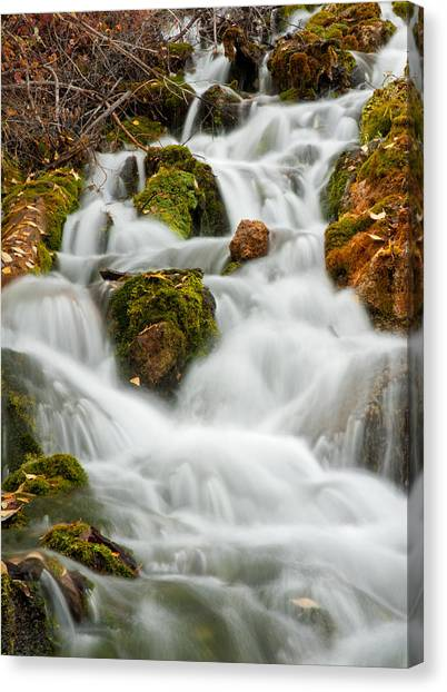 October Waterfall Canvas Print