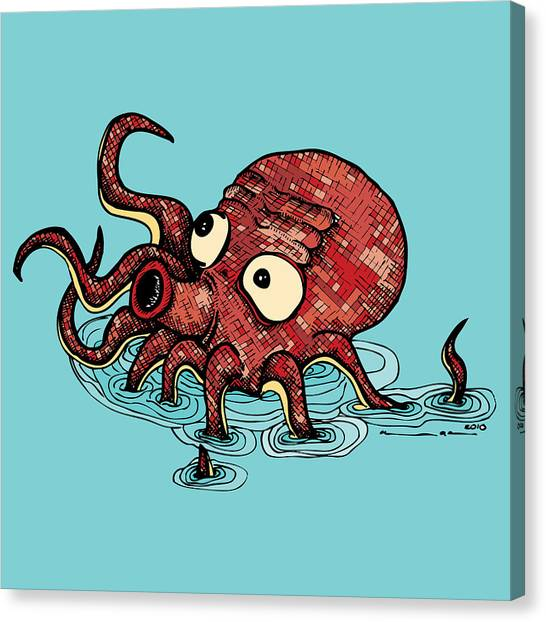Octopus Canvas Print - Octopus - Color by Karl Addison
