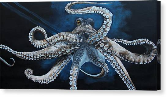 Octopus Canvas Print - Octopus by Alyssa Rosales