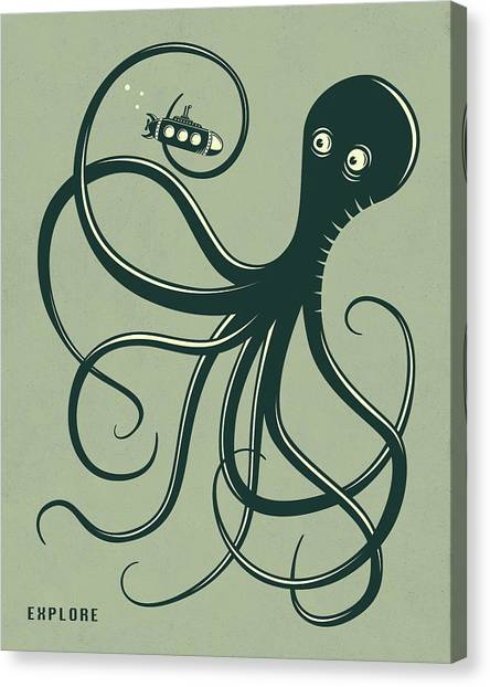 Octopus Canvas Print - Octopus by Jazzberry Blue