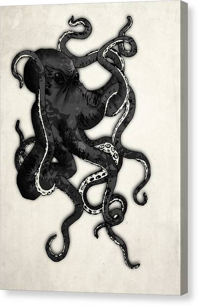 Skulls Canvas Print - Octopus by Nicklas Gustafsson