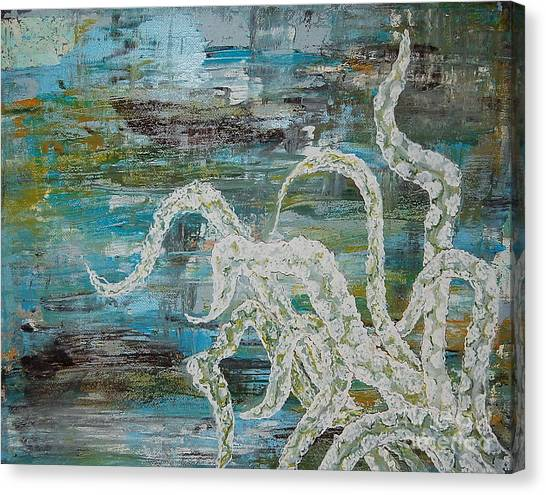 Octopus Of The Deep Canvas Print