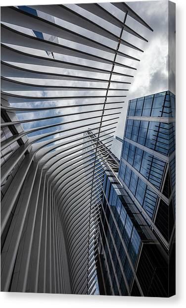 Oculus Center And High Rise Canvas Print by Robert Ullmann