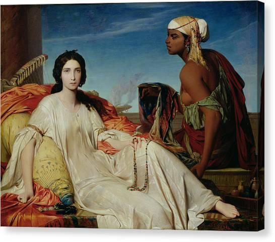 Lute Canvas Print - Odalisque by Francois Leon Benouville