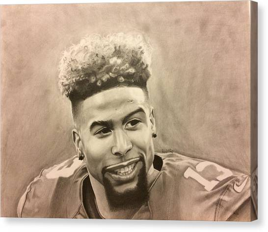 Odell Beckham Jr Canvas Print - Odell Beckham Jr by Shloimy Wallach