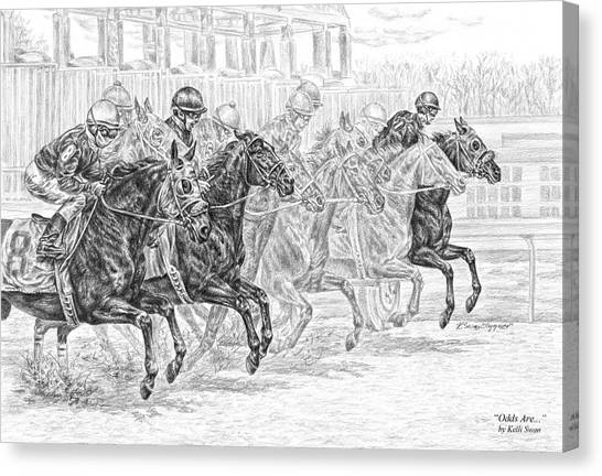 Odds Are... - Tb Race Horse Print Canvas Print