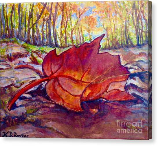 Ode To A Fallen Leaf Painting Canvas Print