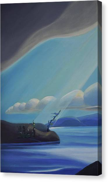 Ode To The North II - Left Panel Canvas Print