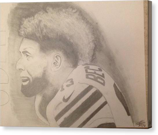Odell Beckham Jr Canvas Print - Odell Beckham  by Alyson Collins