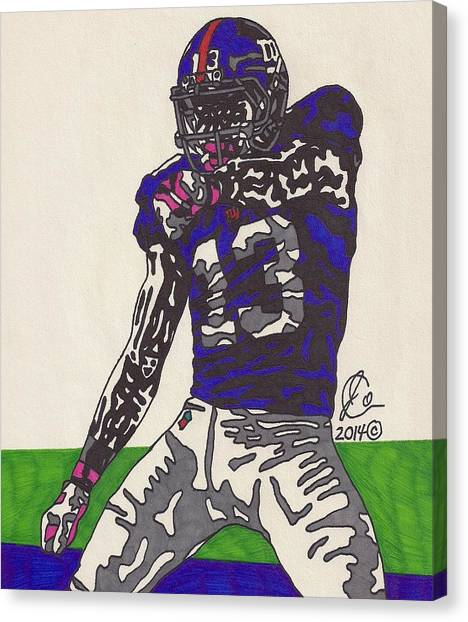 Odell Beckham Jr Canvas Print - Odell Beckham Jr  by Jeremiah Colley