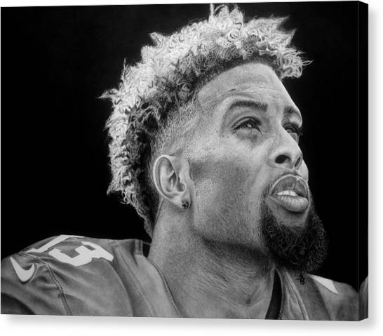 Odell Beckham Jr Canvas Print - Odell Beckham Jr. Drawing by Angelee Borrero
