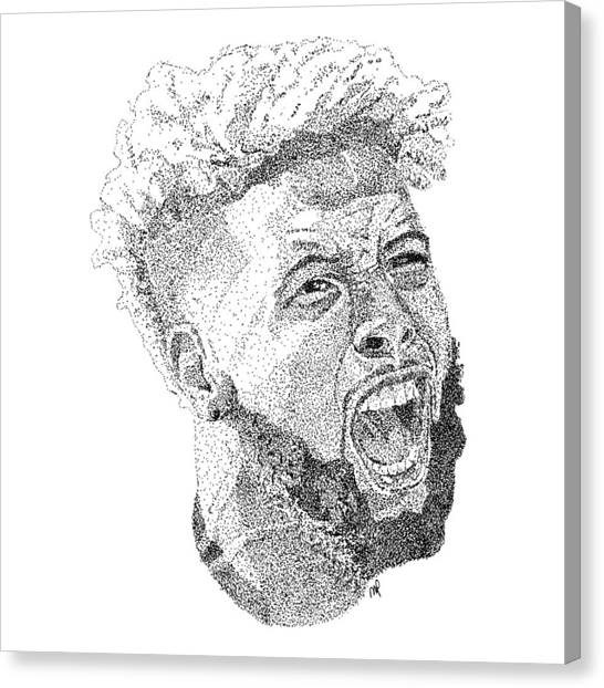 Odell Beckham Jr Canvas Print - Odell Beckham Jr. by Marcus Price