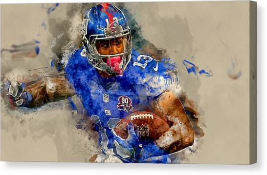 Odell Beckham Jr Canvas Print - Odell Beckham Jr by Marvin Blaine